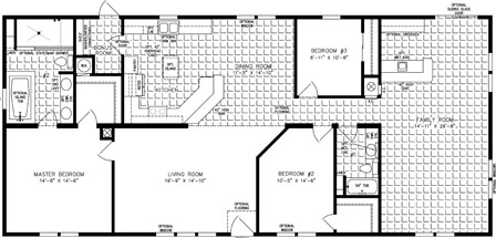 Three bedroom with Family Room