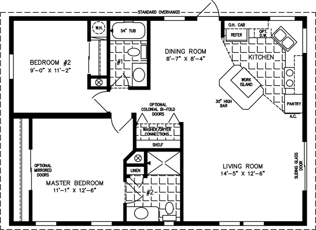 Manufactured Home Floor Plan for Model TNR 3364. Small Mobile Homes   Small Home Floor Plans