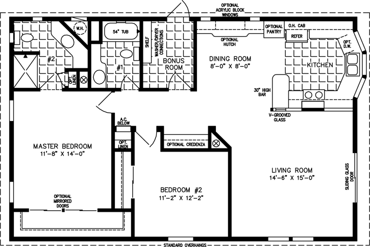 Captivating The T N R U2022 Model TNR 3411B 2 Bedrooms, 2 Bathrooms Square Feet: 1102  Download PDF View Details. Manufactured Home Floor Plan The Imperial ...