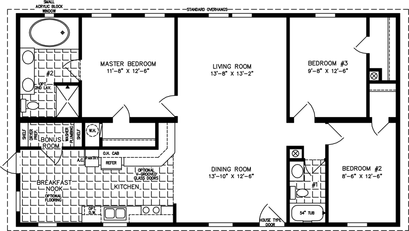 1200sqft 1399sqft Manufactured Homes in addition 115 Mercer Street Loft Could Not Sell In 2010 Sells 16 Higher furthermore Value Edition Floorplans together with Books together with Single Wide Floorplans. on 16 wide mobile home plans