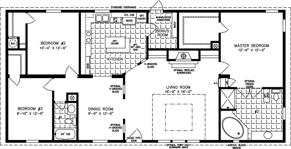House Floor Plans 3 Bedroom 2 Bath three bedroom mobile homes l 3 bedroom floor plans