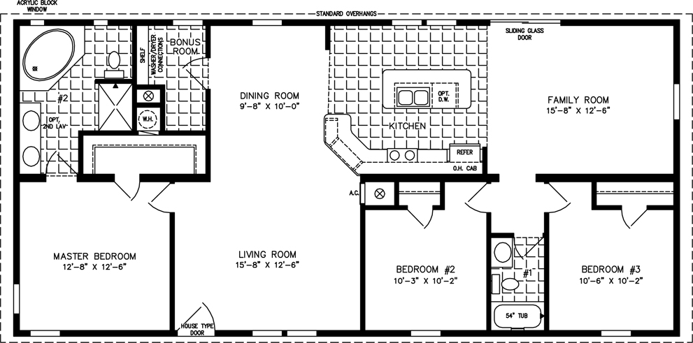 1400 to 1599 sq ft manufactured home floor plans for 1400 sq ft house plans