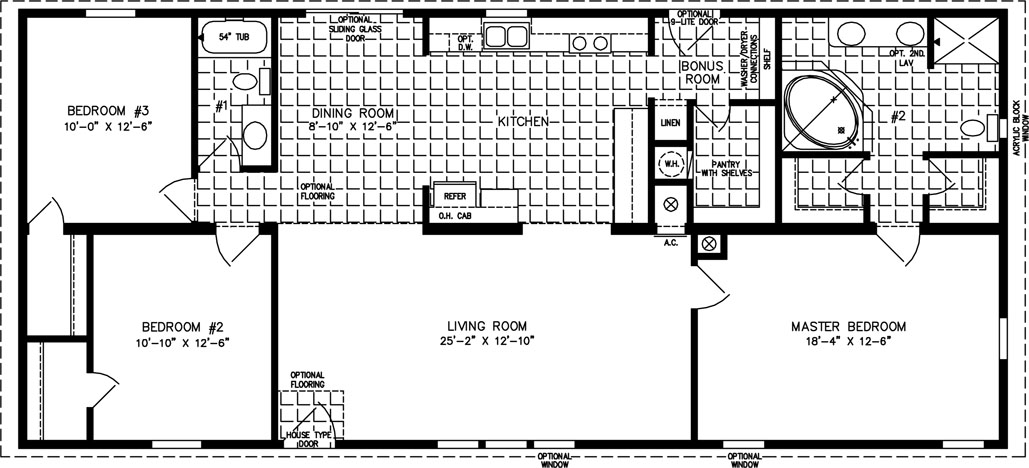 The TNR46018B Manufactured Home Floor Plan Jacobsen Homes