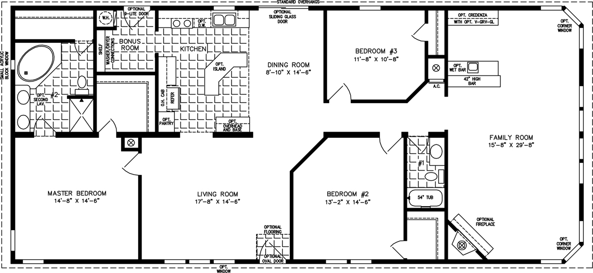 Manufactured Home Floor Plan: The T N R U2022 Model TNR 46815W 3 Bedrooms, ... Part 37