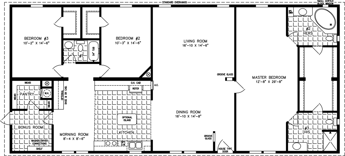 The tnr 4687w manufactured home floor plan jacobsen homes for 2000 square foot house plans