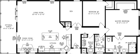 Two Bedroom with den and front porch