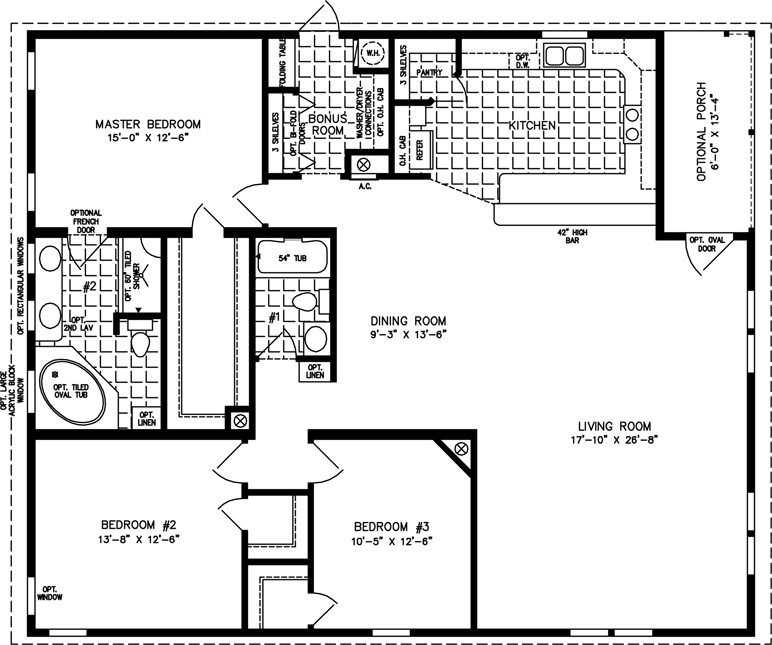 1800 to 1999 sq ft manufactured home floor plans for 1800 sf home plans
