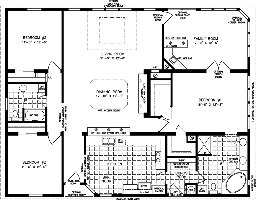 The Tnr 7521 Manufactured Home Floor Plan Jacobsen Homes