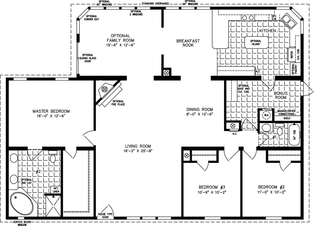 The TNR-7561 - Manufactured Home Floor Plan | Jacobsen Homes