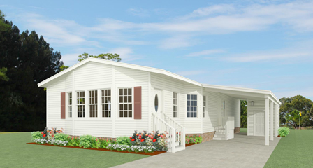 Exterior rendering of Jacobsen Home floor plan model TNR-3403B