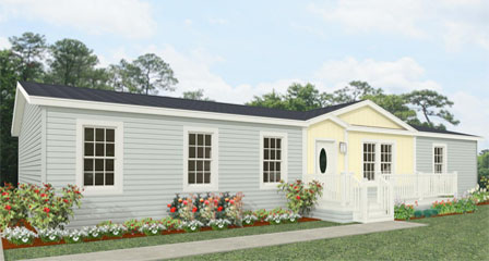 Exterior rendering Jacobsen Homes Floor Plan TNR-46017W