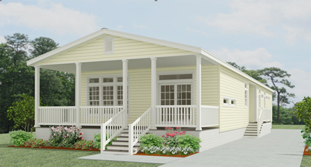 Rendering of a Jacobsen Home with a front porch