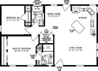 Two Bedroom, Two Bath Front Kitchen