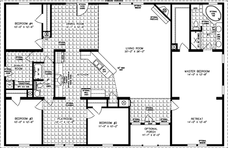 Fp 110 DN28564A moreover 16x40 House Floor Plans likewise Avalon House Plan likewise Shotgun House likewise Cabin Plans. on 1 bedroom manufactured home plans