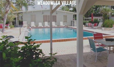Meadowlea Village's swimming pool and club house