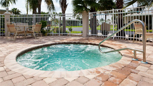 Hot Tub at Royal Palm Village manufactured home community in Haines City Florida