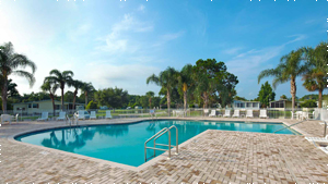 Swimming Pool at Royal Palm Village manufactured home community in Haines City Florida