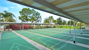 Shuffleboard Courts at Royal Palm Village manufactured home community in Haines City Florida