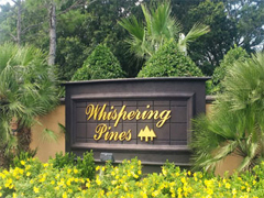 Entrance sign at Whispering Pines in Frostproof, Florida