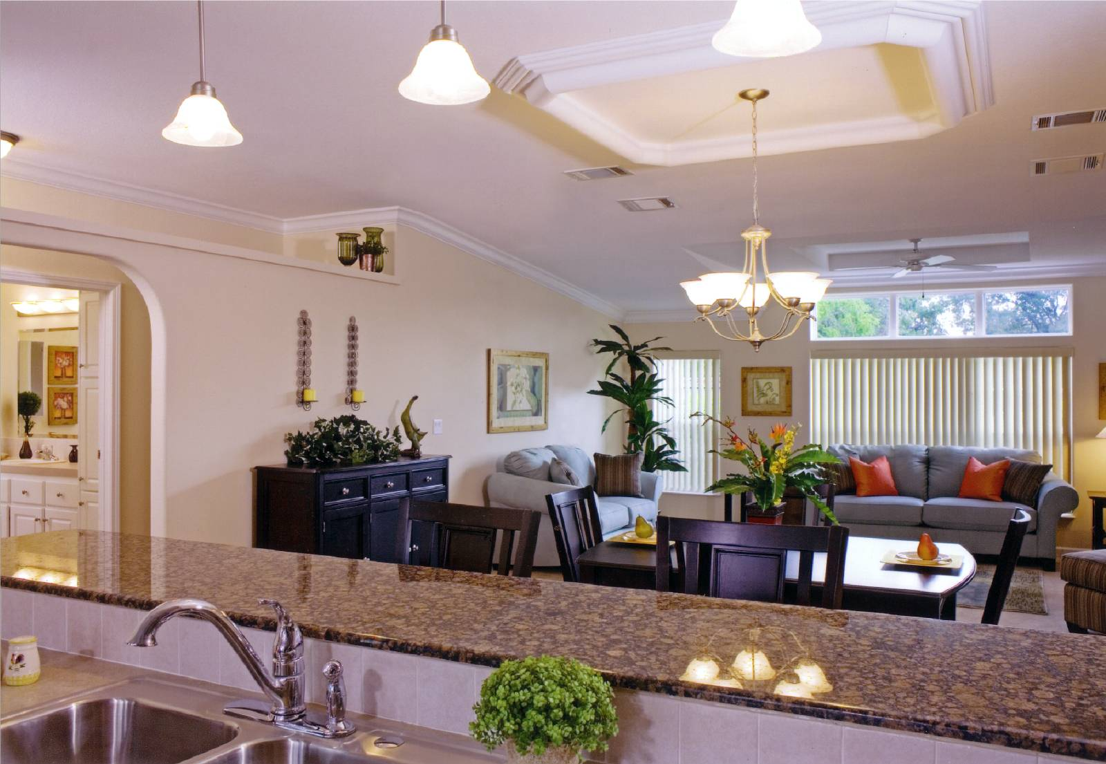 Open floor plan of Citrus Homes - Meadowood Homes