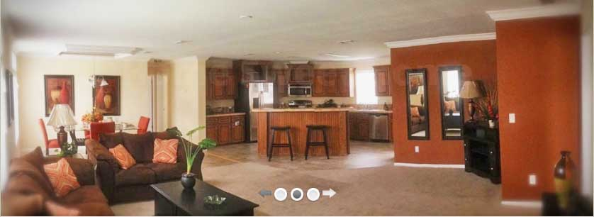 Kitchen And Living Room Option At North Pointe Mobile Home Center