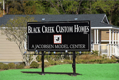 Black Creek Custom Homes Welcome Sign