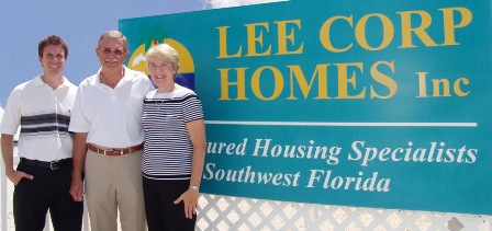 Lee Corp Homes Front Entrance Sign