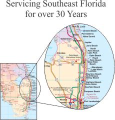 Map of South East Florida