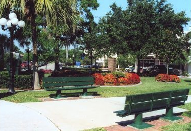 Benches at Central Mobile Homes of Sebring