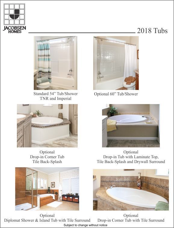 Manufactured Home Bath Tub Options