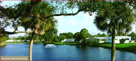 Lake Front manufactured homes at Briarwood manufactured home community in Port Orange Florida