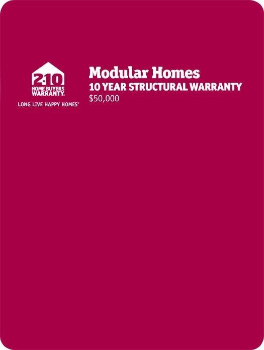 2-10 Modular Homes: 10-Year Structural Warranty Page 1