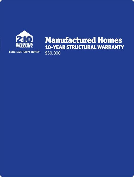 2-10 Manufactured Homes: 10-Year Structural Warranty Page 1