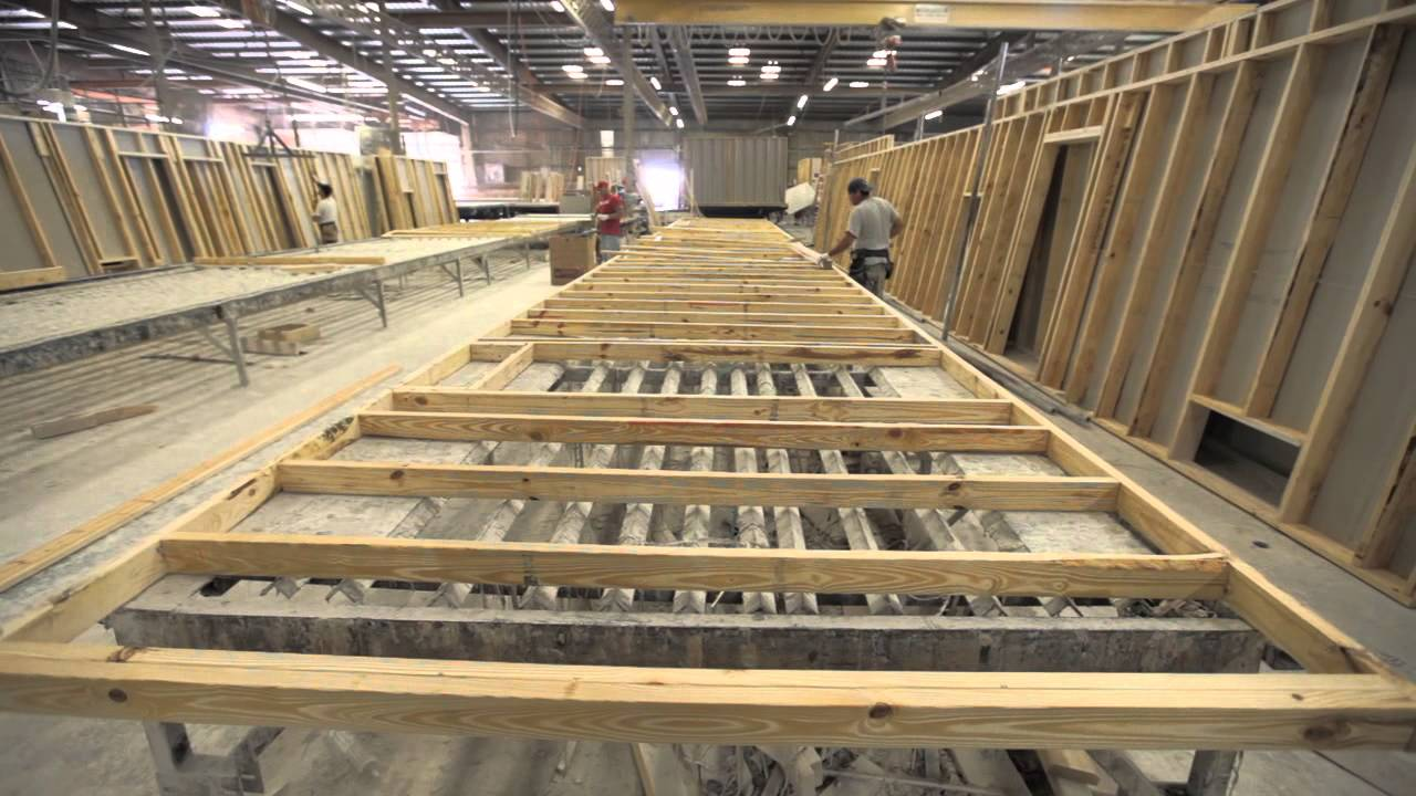 Jacobsen Homes manufactured homes factory and green building process with eco-friendly lumber.