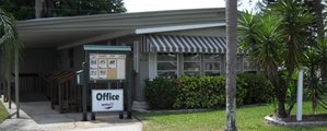 Sales Office at Regency Heights mobile home community in Clearwater Florida