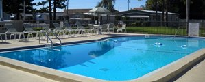 Community Pool at Regency Heights mobile home community in Clearwater Florida
