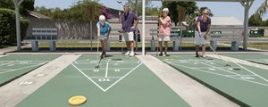 Shuffle Board Courts in Kissimmee Gardens in Kissimmee Florida