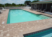 Community pool at Lake Hammock Village manufactured Home community in Haines City Florida