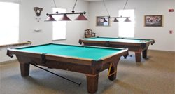 Billiards Room in the club house at Fairfield Village manufactured home Community in Ocala Florida