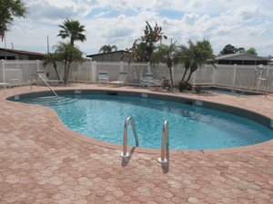 Community pool at gated retirement community in Florida