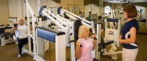 Exercise Room at Briarwood manufactured home community in Port Orange Florida