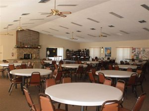Interior of Clubhouse at Nature's Edge manufactured home community in Lake Wales Florida