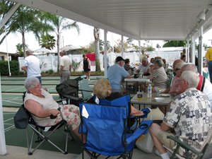 enjoying the retirement life at Town & Country in Sebring, Florida