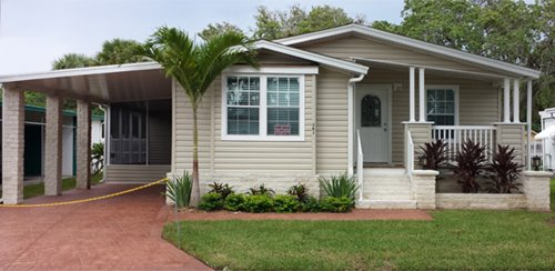 Jacobsen Home at at Lowes City Mobile Home Community in St Petersburg Florida