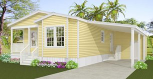 Exterior rendering of Jacobsen Home  Floor Plan Model IMP-6371A