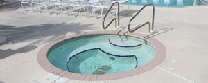 Community hot tub at Palm Village manufactured home community in Bradenton Florida