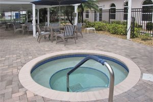 Community Hot Tub at Kings Point manufactured home community in Lake Alfred