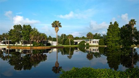 Lake Front Homes in Royal Palm Village manufactured home community in Haines City Florida