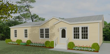 Rendering 4 Bedroom 2 Bath Floor Plan