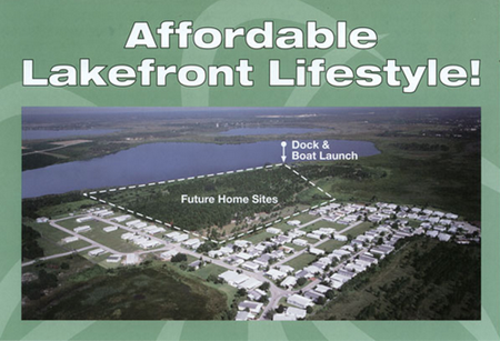Ariel view of Lake Hammock Village manufactured Home community in Haines City Florida